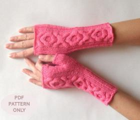 Fingerless Gloves Knitting Pattern Nz : Knit Gloves Pattern XO Cable Gloves Pattern Knitting ...
