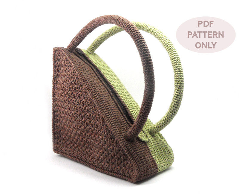 Crochet Pattern Bag Pattern Unique Triangle Bag Crochet Purse Patterns ...