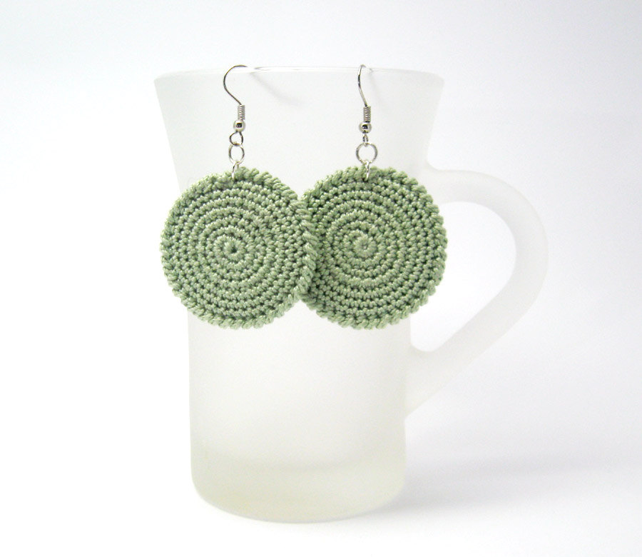 Crochet Circle Pattern Earrings Circle Pattern