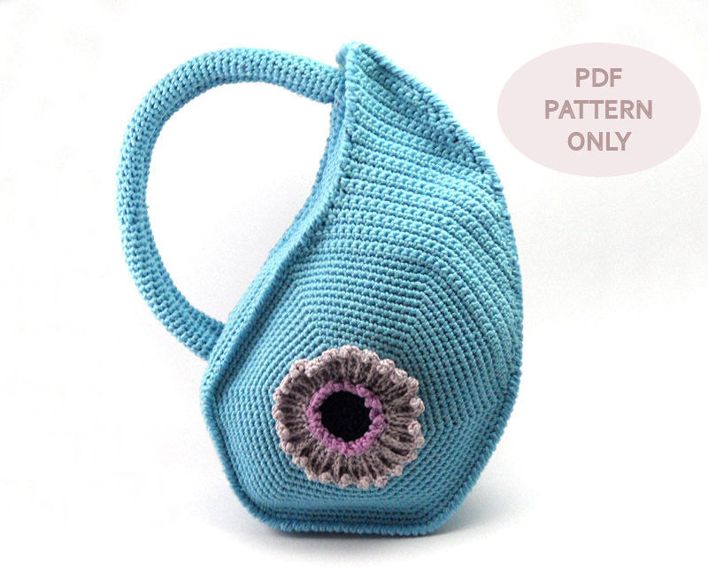 pattern - Crochet Bag Pattern with Round Handles Unique Purse Crochet ...