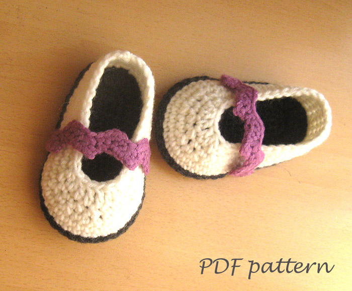 PDF crochet PATTERN - Chevron Baby Shoes Crochet Booties Pattern Baby ...