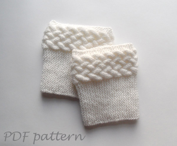 Free Knitting Pattern For Boot Cuffs : Knitting Pattern - Double Cable Boot Cuffs on Luulla